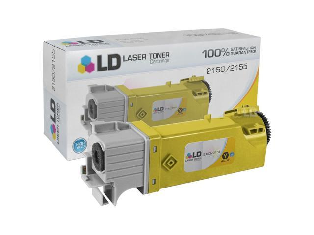LD © Compatible Toner to Replace Dell D6FXJ / 331-0718 High Yield Yellow Toner Cartridge for your Dell 2150 & 2155 Color Laser Printers