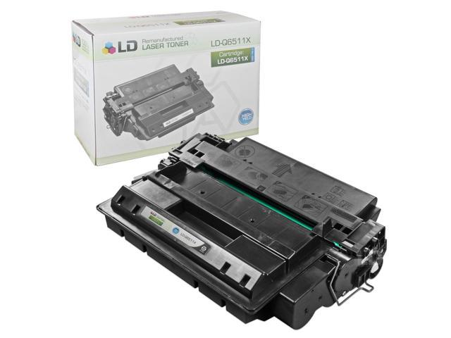 LD © Remanufactured Replacement for Hewlett Packard Q6511X (HP 11X) HY Black Laser Toner Cartridge for use in HP LaserJet ...