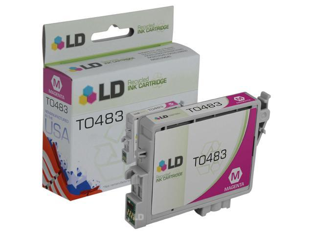 LD © Remanufactured Replacement for Epson T048320 (T0483) Magenta Inkjet Cartridge for use in Epson Stylus Photo R200, R220, R300, R300M, R320, R340, RX500, RX600, and RX620 Printers