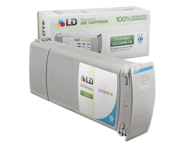 LD © Remanufactured Replacement Ink Cartridge for Hewlett Packard C9467A (HP 91) Cyan