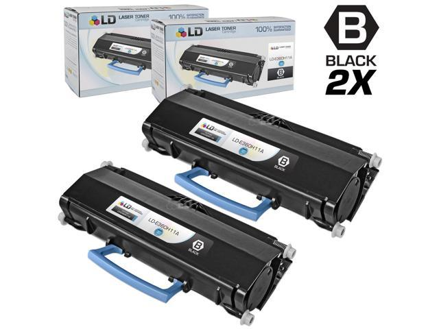 LD © Compatible Lexmark E360H11A Set of 2 High Yield Black Laser Toner Cartridges for E360/E460 Printers