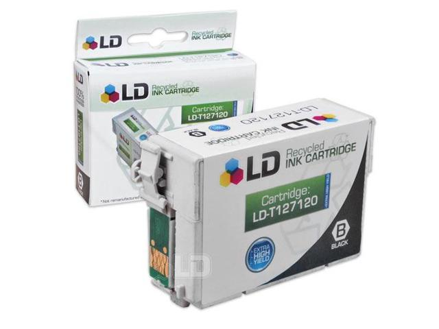 LD Remanufactured Replacement for Epson T127120 T1271 Extra HY Black Pigment Based Ink Cartridge for the Stylus NX530, NX625, WorkForce 3520, 3530, 3540, 7010, 7510, 7520, 60, 545, 630, 633, 635, 645