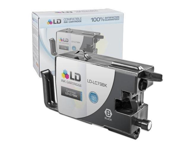 LD © Compatible Replacement for Brother LC79BK Black Extra High Yield Inkjet Cartridge for use in Brother MFC J5910DW, J6510DW, J6710DW, and J6910DW Printers