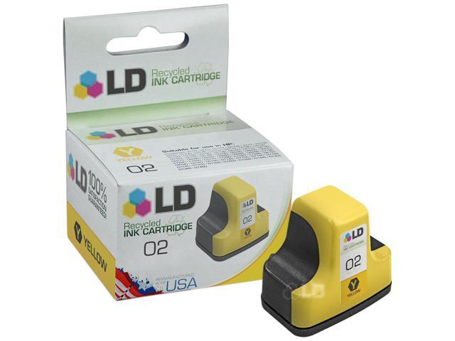 LD © Remanufactured Replacement Ink Cartridge for Hewlett Packard C8773WN HP 02 Yellow