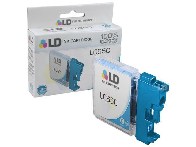 LD © Brother Compatible LC65C High Yield Cyan Ink cartridge. (LC65 Series) for use in the MFC-5890CN, MFC-5895CW, MFC-6490CW & MFC-6890CDW Printers