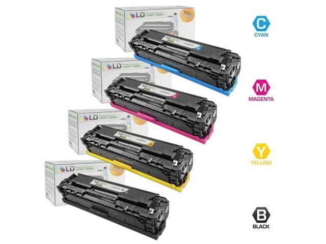 LD © Remanufactured Replacement Laser Toner Cartridges for HP Color LaserJet CP3520/CP3530: 1 Black CE250A, 1 Cyan CE251A, 1 Magenta CE252A and 1 Yellow CE253A