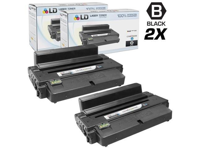 LD © Set of 2 Black Cartridges for the Samsung MLT-D205E for use in the ML-3712 Printers for ML-3712, ML-3712ND. ML-5639FR and ML-5739FW Printers