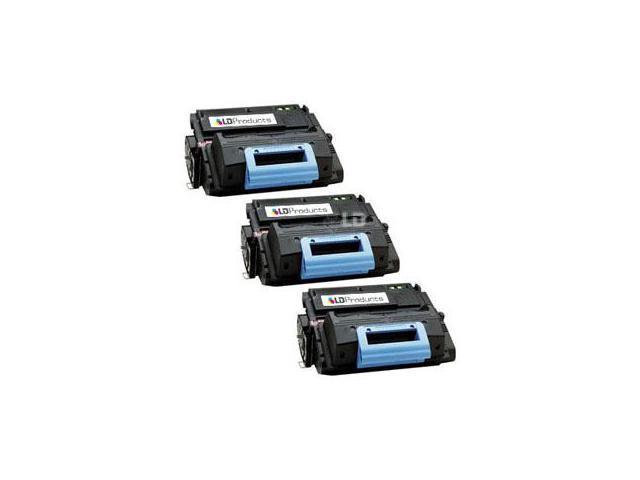 LD © Remanufactured Replacement Laser Toner Cartridges for Hewlett Packard Q5949A (HP 49A) Black (3 Pack)