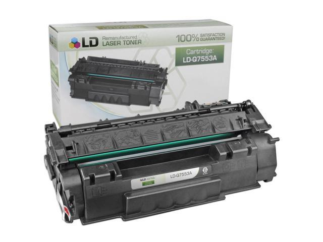 LD © Remanufactured Replacement Laser Toner Cartridge for Hewlett Packard Q7553A (HP 53A) Black