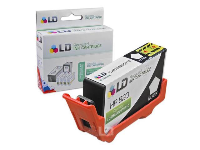 LD © Remanufactured Replacement for Hewlett Packard CD971AN (HP 920) Black Inkjet Cartridge for use in HP OfficeJet 6000, 6500, 6500a, 6500a Plus, 7000, and 7500a Printers