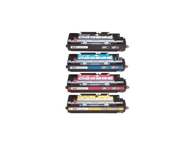 LD © Remanufactured Replacement Laser Toner Cartridges for HP Color LaserJet 3500/3550: 1 Black Q2670A, 1 Cyan Q2671A, 1 ...