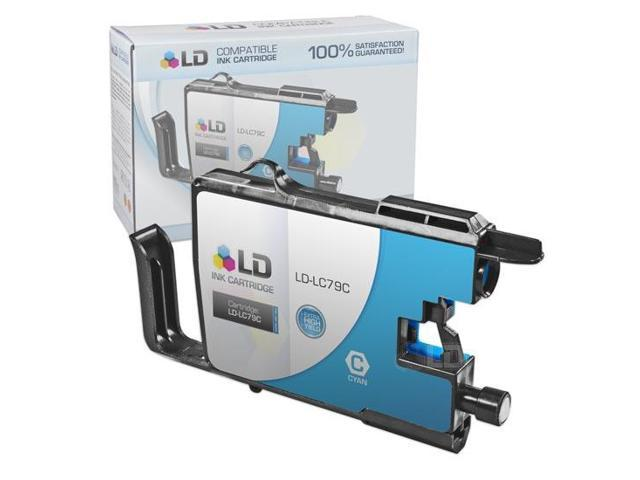 LD © Compatible Replacement for Brother LC79C Cyan Extra High Yield Inkjet Cartridge for use in Brother MFC J5910DW, J6510DW, ...