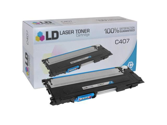 LD © Compatible Replacement for Samsung CLT-C407S Cyan Laser Toner Cartridge for use in Samsung CLP 320, 320N, 321N, 325, ...