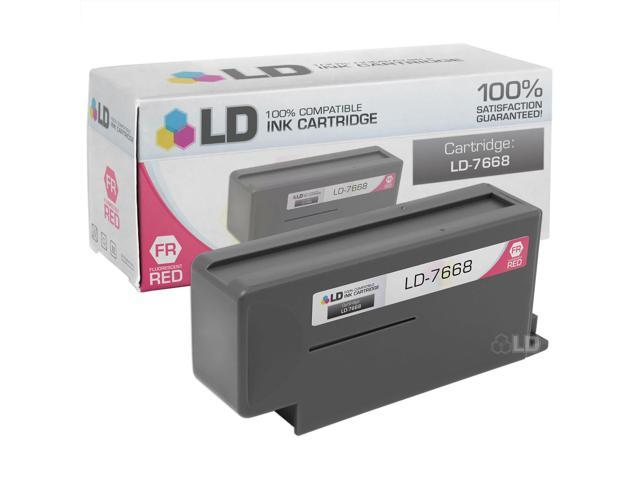 LD © Compatible Replacement for Pitney Bowes Fluorescent Red 766-8 inkjet cartridge for DM800 and DM900