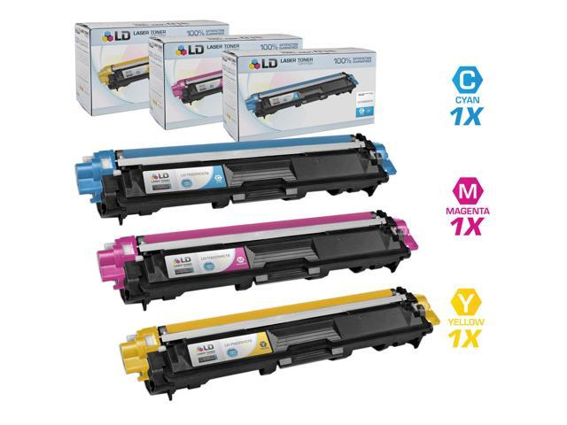 LD © Brother Compatible TN225 Set of 3 laser toner Cartridges: 1 each of Cyan / Magenta / Yellow for use in the HL-3140CW. ...