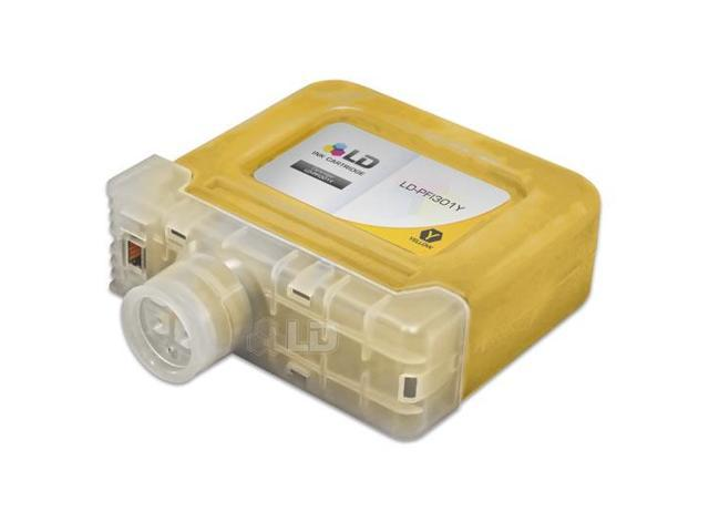 LD © Compatible Replacement for Canon PFI-301Y Yellow Ink Cartridge for use in Canon imagePROGRAF iPF8000, iPF8000S, iPF8100, iPF9000, iPF9000S, and iPF9100 Printers