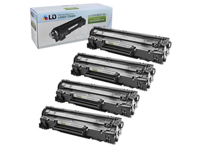 LD © Remanufactured Canon 3500B001AA (128) Set of 4 Black Laser Toner Cartridges