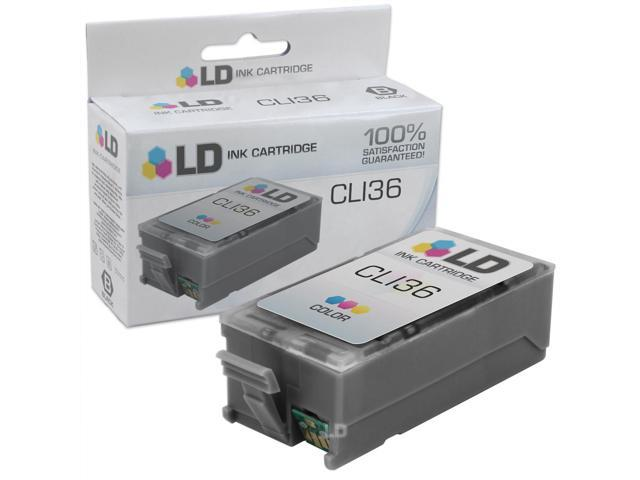 LD �� Canon CLI36 Color Compatible Inkjet Cartridge W/ Chip for the Canon Pixma iP100