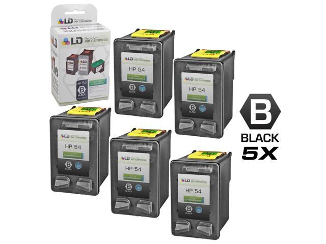 LD © Remanufactured Replacement Ink Cartridges for (HP) CB334AN (HP 54) High Yield Black (5 pack)
