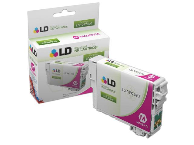 LD © Remanufactured Replacement for Epson T087320 (T0873) Magenta Inkjet Cartridge for use in Epson Stylus Photo R1900 Printers