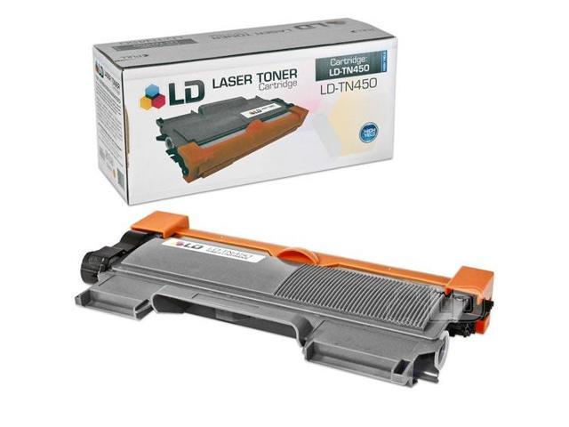 LD Compatible Brother TN450 HY Black Laser Toner Cartridge for the DCP-7060D, 7065DN, HL-2130, 2132, 2230, 2240, 2240D, 2242D, 2250DN, 2270DW, 2280DW, Intellifax 2840, 2940, MFC-7240, 7360N,7460DN