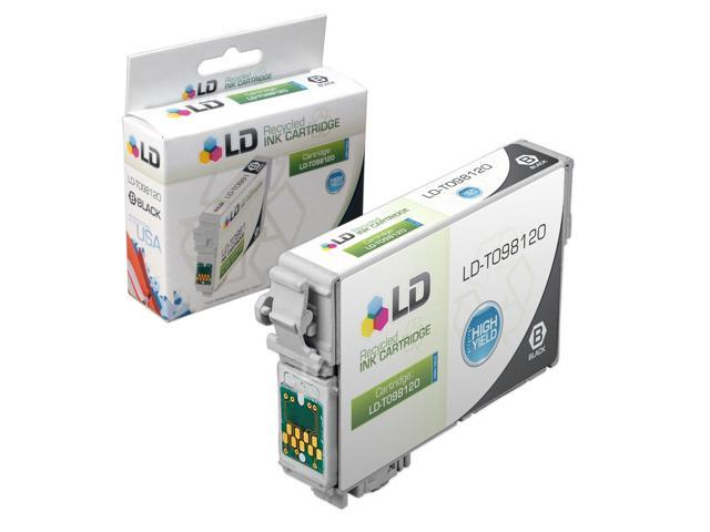 LD © Remanufactured Replacement for Epson T098 Black High Yield Ink Cartridge Includes: 1 T098120 Black for use in Artisan 700, 710, 725, 730, 800, 810, 835, and 837 Printers