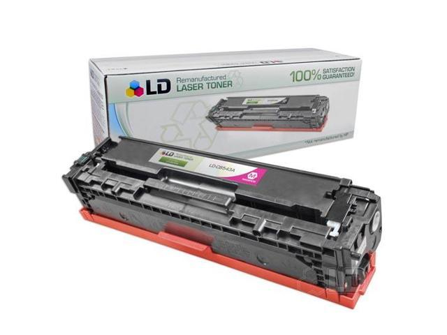 LD �� Remanufactured Replacement for HP CB543A / 125A Magenta Laser Toner Cartridge for HP Color LaserJet CM1312 MFP, CM1312nfi, CP1215, CP1515n, & CP1518ni