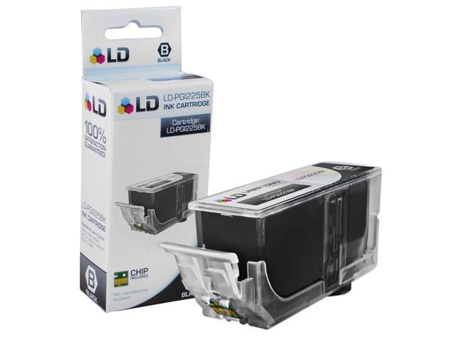 LD © Canon PGI-225BK Pigment Black Compatible Inkjet Cartridge W/ Chip for PIXMA iP4820, iP4920, iX6520, MG5120, MG5220, MG6120, MG6220, MG8120. MG8120B, MG8220, MX712, MX882, and MX892 Printers