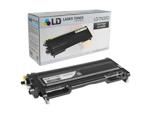 LD © Brother Compatible TN350 Black Laser Toner Cartridge for use in Brother DCP, HL, Intellifax, & MFC Printers