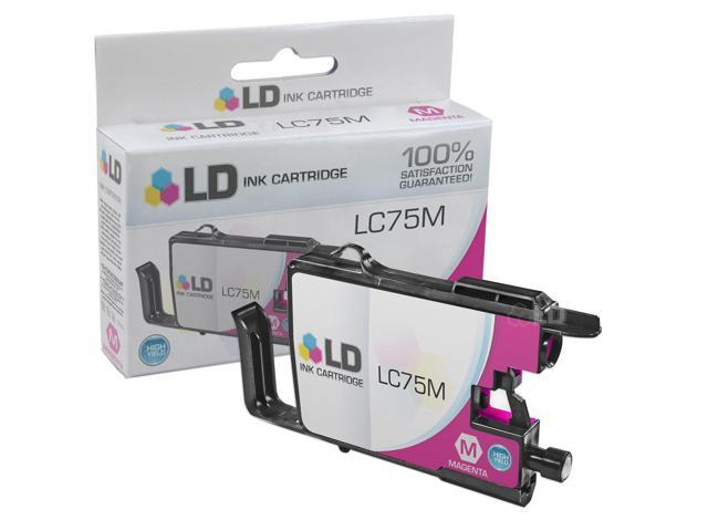 LD © Brother Compatible LC75M High Yield Magenta Ink cartridge. (LC75 Series) for use in the Brother MFC-J6510DW, MFC-J6710DW, ...