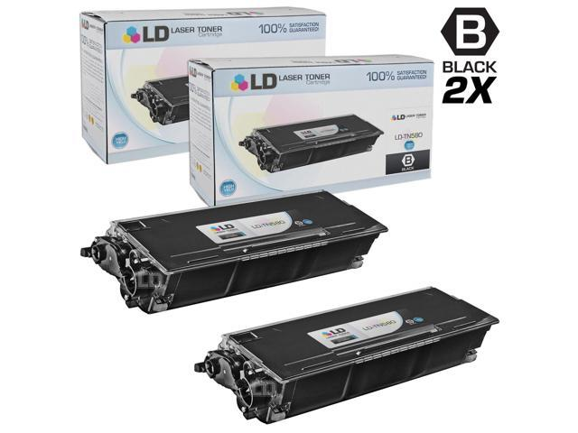 LD © Compatible Brother TN580 Set of 2 High Yield Black Laser Toner Cartridges
