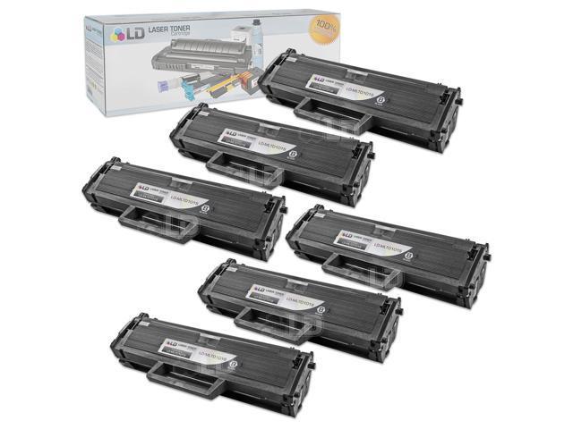LD © Compatible Samsung MLT-D101S Set of 6 Black Laser Toner Cartridges