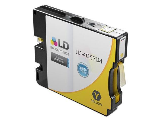 LD © Compatible Ricoh 405704 High-Yield Yellow Ink Cartridge for Aficio GX e5550N (GC31Y HY)
