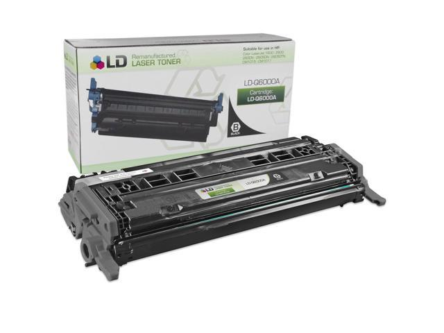 LD © Remanufactured Replacement Laser Toner Cartridge for Hewlett Packard Q6000A (HP 124A) Black