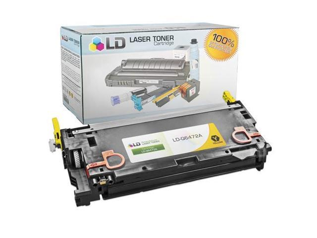 LD © Remanufactured Replacement Laser Toner Cartridge for Hewlett Packard Q6472A (HP 502A) Yellow