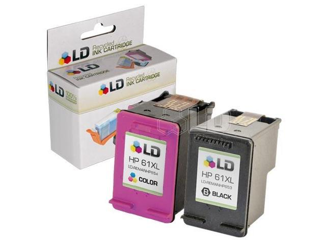 LD © Remanufactured Replacements for Hewlett Packard HP 61XL / 61 2PK High Yield Ink Cartridges Includes: 1 CH563WN Black, ...