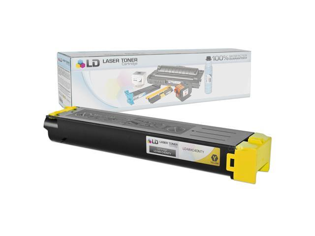 LD © Compatible Replacement for Sharp MX-C40NTY Yellow Laser Toner Cartridge for use in Sharp MX B400P, C311, C3212, C400P, and C401 Printers
