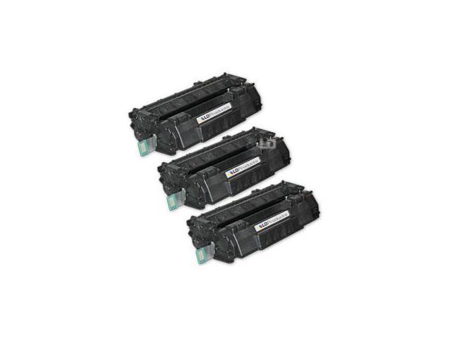 LD Remanufactured Replacement Laser Toner Cartridges forHP Q5949A (49A) Black (3 Pack) for the LaserJet 1160, 3390 All-in-One, 1320nw, 1320tn, 1160Le, 1320, 3392 All-in-One, 1320n, 1320t Printers