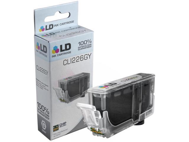 LD © Compatible Replacement for Canon CLI-226GY Gray Ink Cartridge for Canon PIXMA MG6120, MG6220, MG8120, MG8120B, and MG8220 Printers