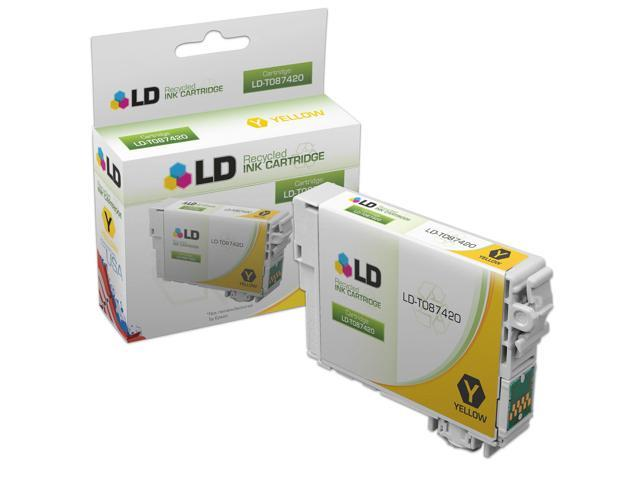 LD �� Remanufactured Replacement for Epson T087420 (T0874) Yellow Inkjet Cartridge for use in Epson Stylus Photo R1900 Printers