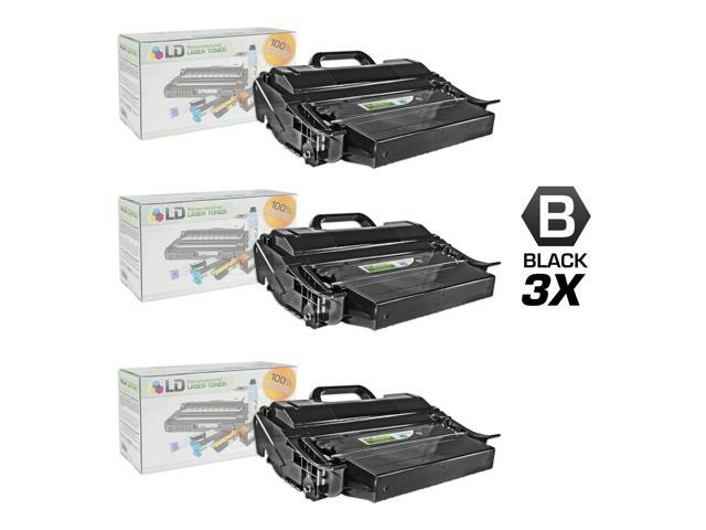 LD © Compatible Dell 330-9792 (PK6Y4) Set of 3 Extra High Yield Black Toner Cartridges for your Dell 5530dn/5535dn Printers