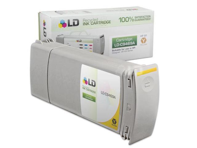 LD © Remanufactured Replacement Ink Cartridge for Hewlett Packard C9469A (HP 91) Yellow