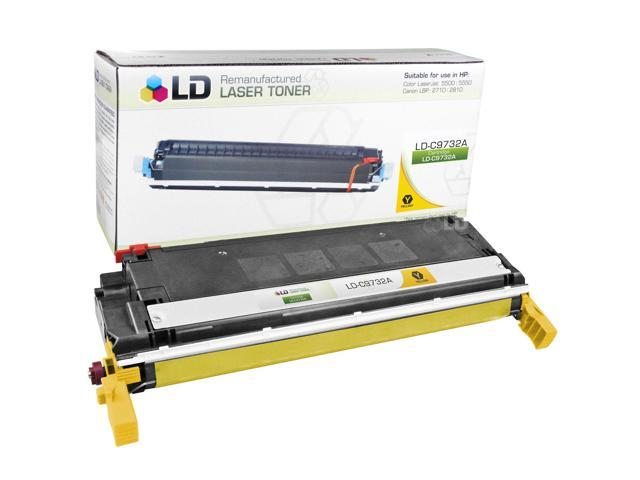 LD Remanufactured Replacement Laser Toner Cartridge for Hewlett Packard C9732A (HP 645A) Yellow for the Color LaserJet 5500n, 5550hdn, 5500dtn, 5500, 5550dtn, 5500dn, 5550n, 5550, 5550dn, 5500hdn