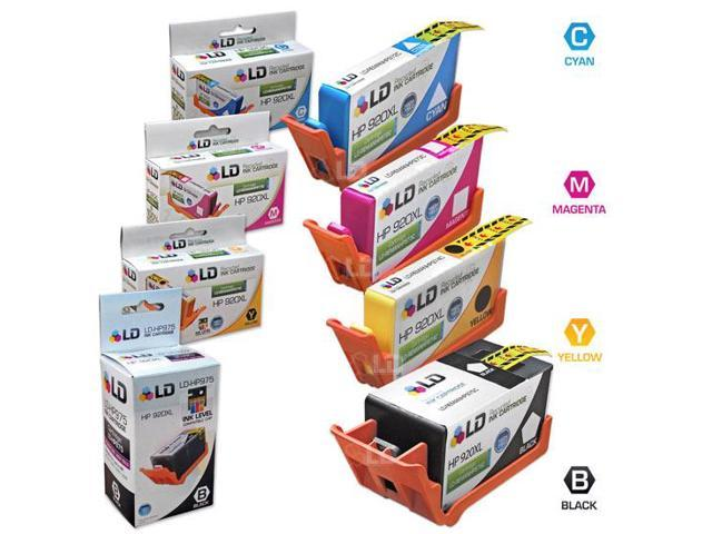 LD Remanufactured Replacements for HP 920XL / 920 4PK Ink Cartridges:1 CD975AN Black, 1 Cyan CD972AN, 1 Magenta CD973AN,& 1 Yellow CD974AN for us in OfficeJet 6000, 6500 & More:SHOWS ACCURATE LEVELS