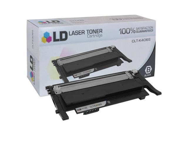 LD © Compatible Replacement for Samsung CLT-K406S Black Laser Toner Cartridge for use in Samsung CLP-365W, CLX-3305FW, Xpress C410W, and Xpress C460FW Printers