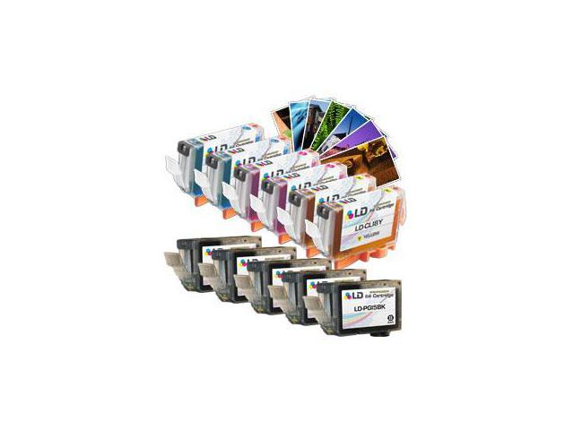 LD© Compatible Replacements for Canon CLI8/PGI5 11PK Ink Cartridges Includes:5 PGI5BK Pigment Black, 2 CLI8C Cyan, 2 CLI8M Magenta, & 2 CLI8Y Yellow for use in Canon Pixma Printers