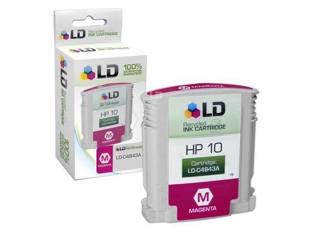 LD © Remanufactured Replacement for Hewlett Packard C4843A (HP 10) Magenta Ink Cartridge for HP DesignJet, and Professional Printers