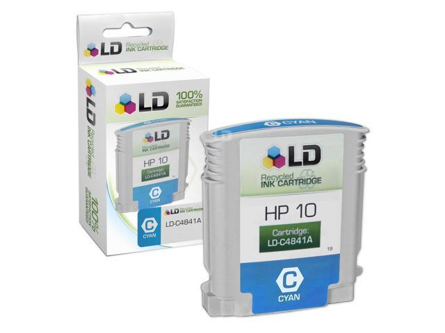 LD © Remanufactured Replacement for Hewlett Packard C4841A (HP 10) Cyan Ink Cartridge for HP DesignJet, and Professional Printers