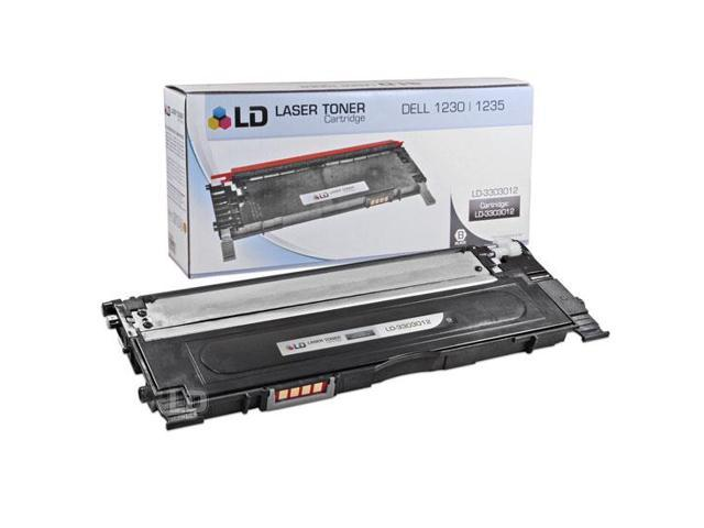 LD © Compatible Replacement for Dell 330-3012 Black Laser Toner Cartridge for use in Dell Color Laser 1230c, 1235c, and 1235cn Printers