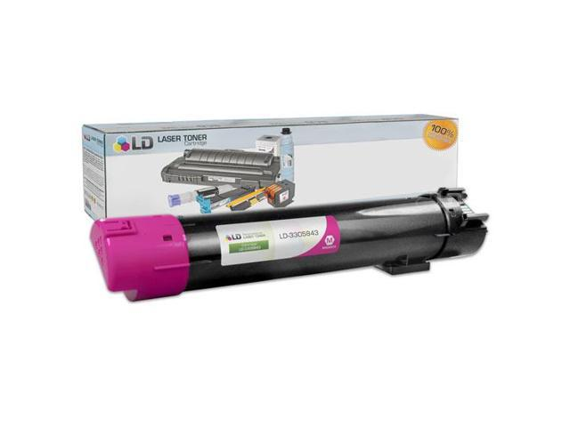 LD © Compatible Replacement for Dell 330-5843 Magenta High Yield Laser Toner Cartridge for use in Dell Color Laser 5120cdn, 5130cdn, and 5140cdn Printers